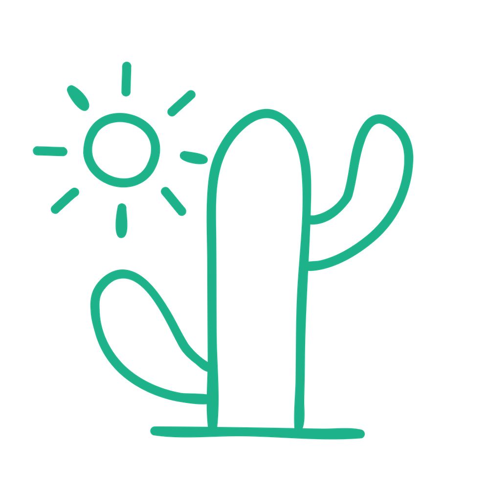 SUMMERHILL icon - green - cactus - 1000
